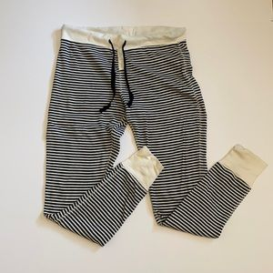 Gap body thermal black and white striped pants